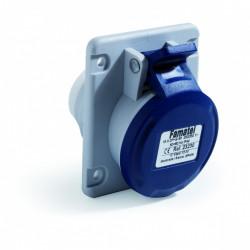 Priza industriala monofazata 230V 3P 32A 6h incastrata IP44 Famatel
