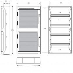 Tablou electric AcquaPlus 72M IP65 Famatel