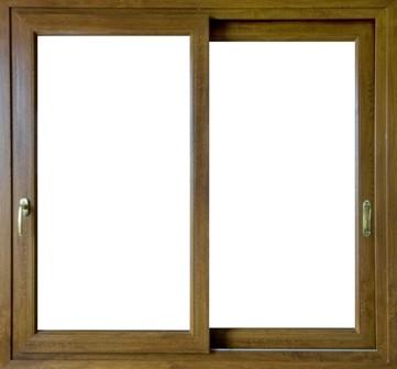Infissi pvc scorrevoli in linea finestra colore legno for Finestra 4 ante
