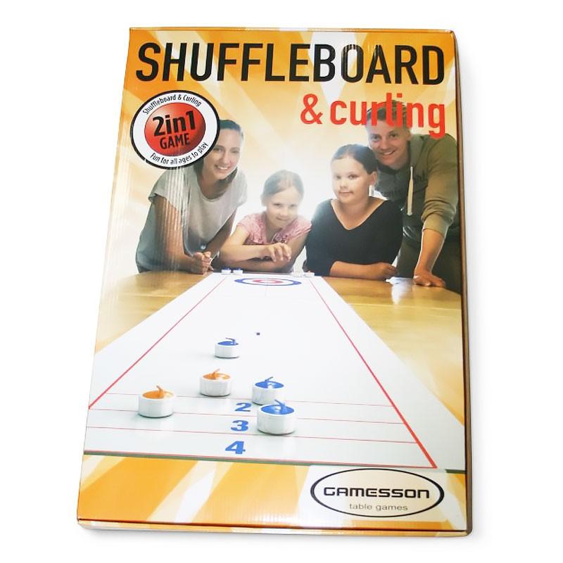 Joc de masa 2 in 1 Curling si Shuffleboard