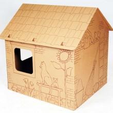 Proiect din carton casa Cabin
