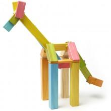 Set 42 piese din lemn magnetic, Tegu Tints