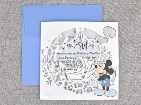 Invitatie de botez gravura Mickey