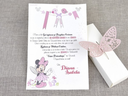 Invitatie de botez fairy Minnie