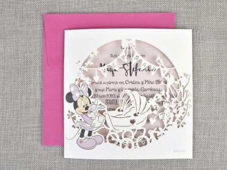 Invitatie de botez gravura Minnie