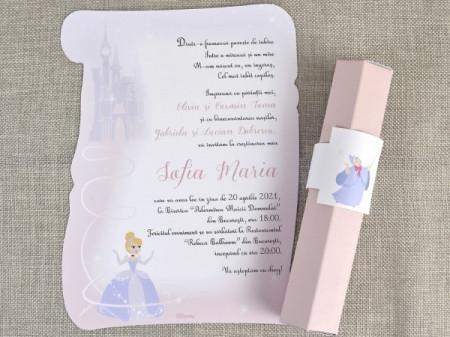 Invitatie de botez Princess