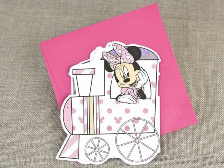 Invitatie de botez tren Minnie