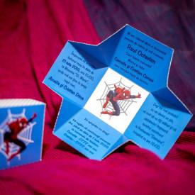 Invitatie de botez Spider