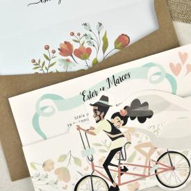 Invitatie de nunta bicicleta 39629