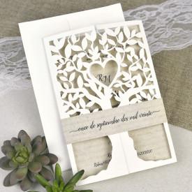 Invitatie de nunta copac