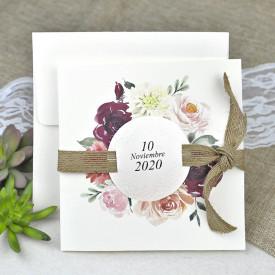 Invitatie de nunta florala 39622