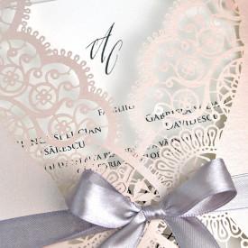 Invitatie de nunta gravura laser