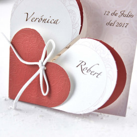 Invitatie de nunta inima 32826