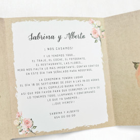 Invitatie de nunta inima 39705