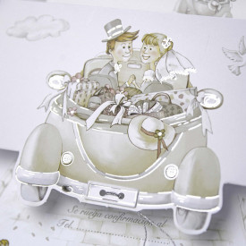 Invitatie de nunta masina 31509