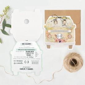 Invitatie de nunta rulota 39711