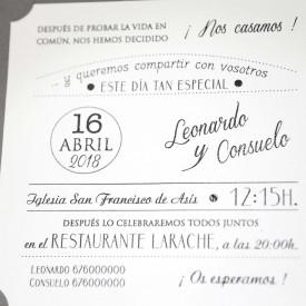 Invitatie de nunta vintage 39231