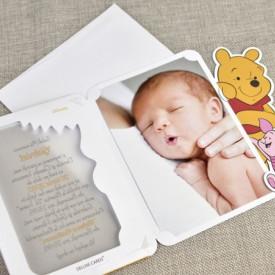Invitatie de botez Winnie the pooh
