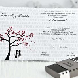 Invitatie de nunta cutie 39116