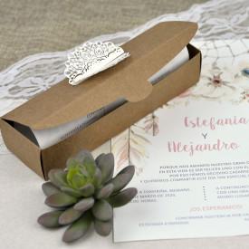 Invitatie de nunta cutie kraft