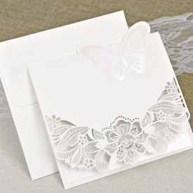 Invitatie de nunta gravata fluture