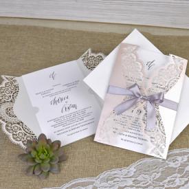 Invitatie de nunta gravura laser 39381