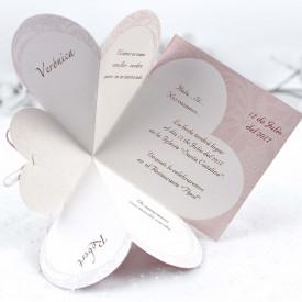 Invitatie de nunta inima