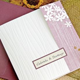 Invitatie de nunta motiv floral