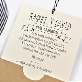 Invitatie de nunta Polaroid