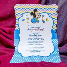 Invitatie de botez Mickey