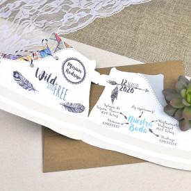 Invitatie de nunta adidas
