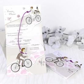 Invitatie de nunta bicicleta