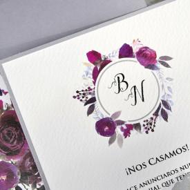 Invitatie de nunta florala 39630