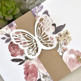 Invitatie de nunta fluture