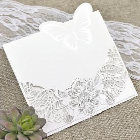 Invitatie de nunta gravata fluture 39624