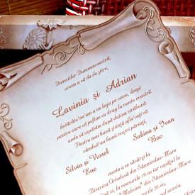 Invitatie de nunta papirus 31328
