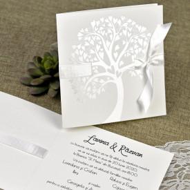 Invitatie de nunta textura copac