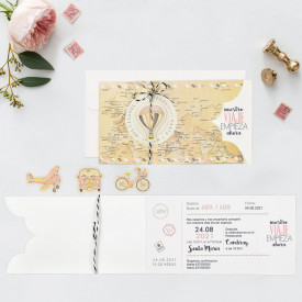 Invitatie de nunta travel