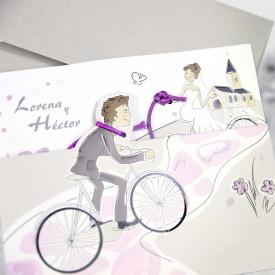 Invitatie de nunta bicicleta 39220
