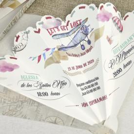 Invitatie de nunta evantai 39620