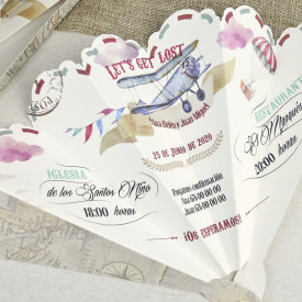 Invitatie de nunta evantai