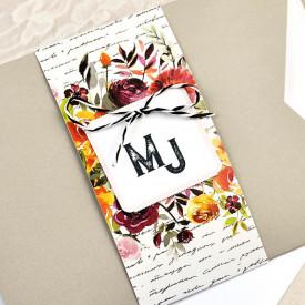 Invitatie de nunta florala 39614