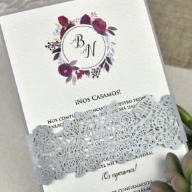 Invitatie de nunta florala