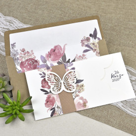 Invitatie de nunta fluture 39611