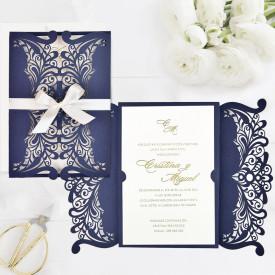 Invitatie de nunta Lux gravura laser