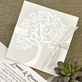 Invitatie de nunta textura copac 39642