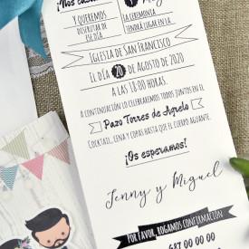 Invitatie de nunta comic 39631