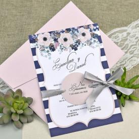 Invitatie de nunta florala 39609