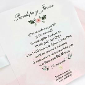 Invitatie de nunta florala 39724