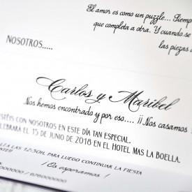 Invitatie de nunta originala